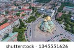 aerial view over the capital... | Shutterstock . vector #1345551626