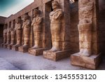 great hypostyle hall and clouds ... | Shutterstock . vector #1345553120