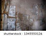 hieroglyph texture from egypt... | Shutterstock . vector #1345553126