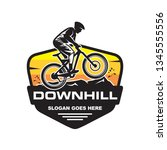 mountain bike  downhill bike... | Shutterstock .eps vector #1345555556