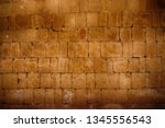 old egyptian wall as nice... | Shutterstock . vector #1345556543