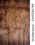 hieroglyph in temple of queen... | Shutterstock . vector #1345556789