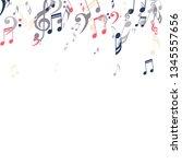 falling musical notes. trendy... | Shutterstock .eps vector #1345557656
