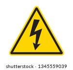 sign of danger high voltage... | Shutterstock .eps vector #1345559039
