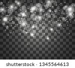 beautiful sparks shine with... | Shutterstock .eps vector #1345564613
