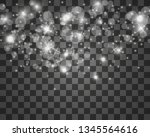 beautiful sparks shine with... | Shutterstock .eps vector #1345564616