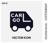 modern cargo car vector icon...