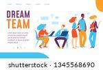 vector deram team concept... | Shutterstock .eps vector #1345568690