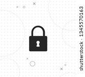 safety  lock  vector best flat... | Shutterstock .eps vector #1345570163