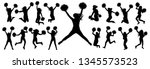 silhouettes of cheerleading... | Shutterstock .eps vector #1345573523