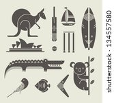 vector set of various stylized... | Shutterstock .eps vector #134557580
