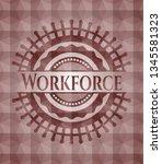 workforce red seamless emblem... | Shutterstock .eps vector #1345581323