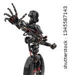 Mega Black Robot Super Drone I...