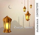 ramadan kareem  islamic ... | Shutterstock .eps vector #1345587599