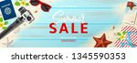 summer sale advertisement... | Shutterstock .eps vector #1345590353