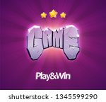 gaming vector icon. word game...