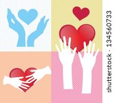 hands icons different concepts  ... | Shutterstock .eps vector #134560733
