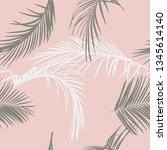 summer tropical palm tree... | Shutterstock .eps vector #1345614140