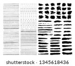 mega pack vector brushes... | Shutterstock .eps vector #1345618436