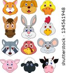 animal head cartoon collection | Shutterstock . vector #134561948