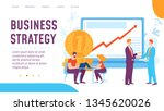 vector business strategy... | Shutterstock .eps vector #1345620026