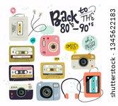 cartoon style vector cliparts.... | Shutterstock .eps vector #1345622183