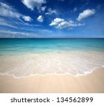 sea beach blue sky sand sun... | Shutterstock . vector #134562899