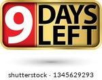 9 days left gold sign  vector...   Shutterstock .eps vector #1345629293
