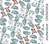 leaves texture pattern... | Shutterstock .eps vector #1345631816