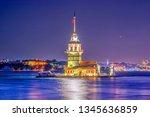 maiden's tower in istanbul ... | Shutterstock . vector #1345636859