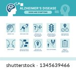 alzheimer's disease and... | Shutterstock .eps vector #1345639466