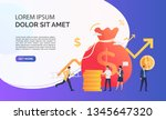 capital increasing violet... | Shutterstock .eps vector #1345647320