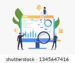 businesspeople researching... | Shutterstock .eps vector #1345647416