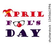 april 1st. fools day. | Shutterstock .eps vector #1345661996