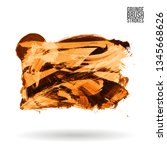 orange brush stroke and texture.... | Shutterstock .eps vector #1345668626