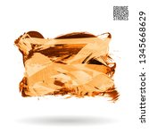 orange brush stroke and texture.... | Shutterstock .eps vector #1345668629