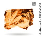 orange brush stroke and texture.... | Shutterstock .eps vector #1345668650