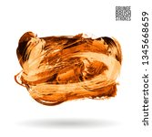 orange brush stroke and texture.... | Shutterstock .eps vector #1345668659