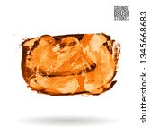 orange brush stroke and texture.... | Shutterstock .eps vector #1345668683