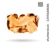 orange brush stroke and texture.... | Shutterstock .eps vector #1345668686