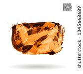 orange brush stroke and texture.... | Shutterstock .eps vector #1345668689