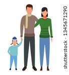 family avatar cartoon character | Shutterstock .eps vector #1345671290