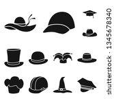 vector illustration of beanie ... | Shutterstock .eps vector #1345678340