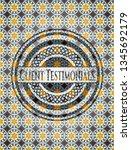 client testimonials arabic... | Shutterstock .eps vector #1345692179