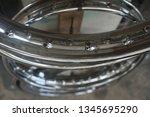 motorcycle wheel alloy | Shutterstock . vector #1345695290