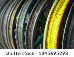 motorcycle wheel alloy | Shutterstock . vector #1345695293