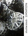 motorcycle wheel alloy | Shutterstock . vector #1345695296