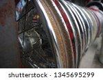 motorcycle wheel alloy | Shutterstock . vector #1345695299