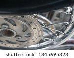 motorcycle wheel alloy | Shutterstock . vector #1345695323