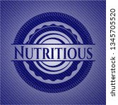 nutritious with denim texture | Shutterstock .eps vector #1345705520